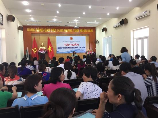 Tập huấn nghiệp vụ chăm sóc sức khỏe tâm thần tại Quảng Ninh