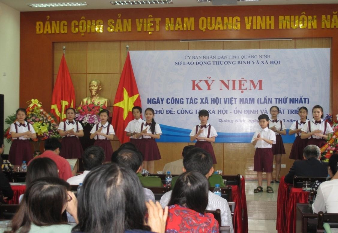 Quảng Ninh - tổ chức Kỷ niệm ngày Công tác xã hội Việt Nam (lần thứ nhất).